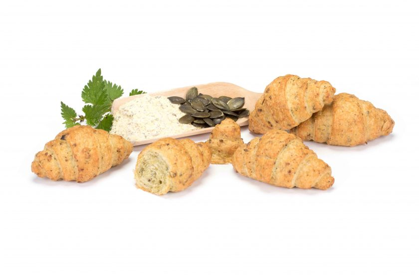 vegan croissant with nettle